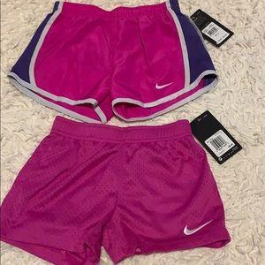 2 pair Nike girl swim shorts